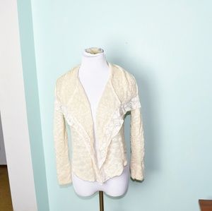 Lucky Brand Cream Knit Cardigan